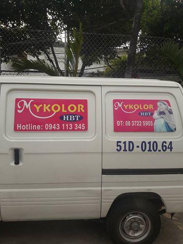 Xe phân phối sơn mykolor tại Bình Dương