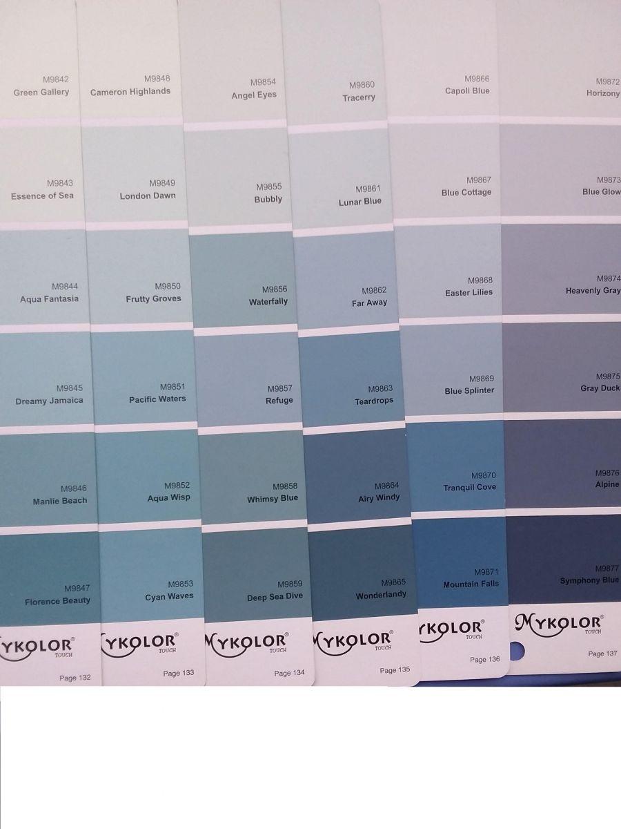 bảng màu xanh dương sơn mykolor