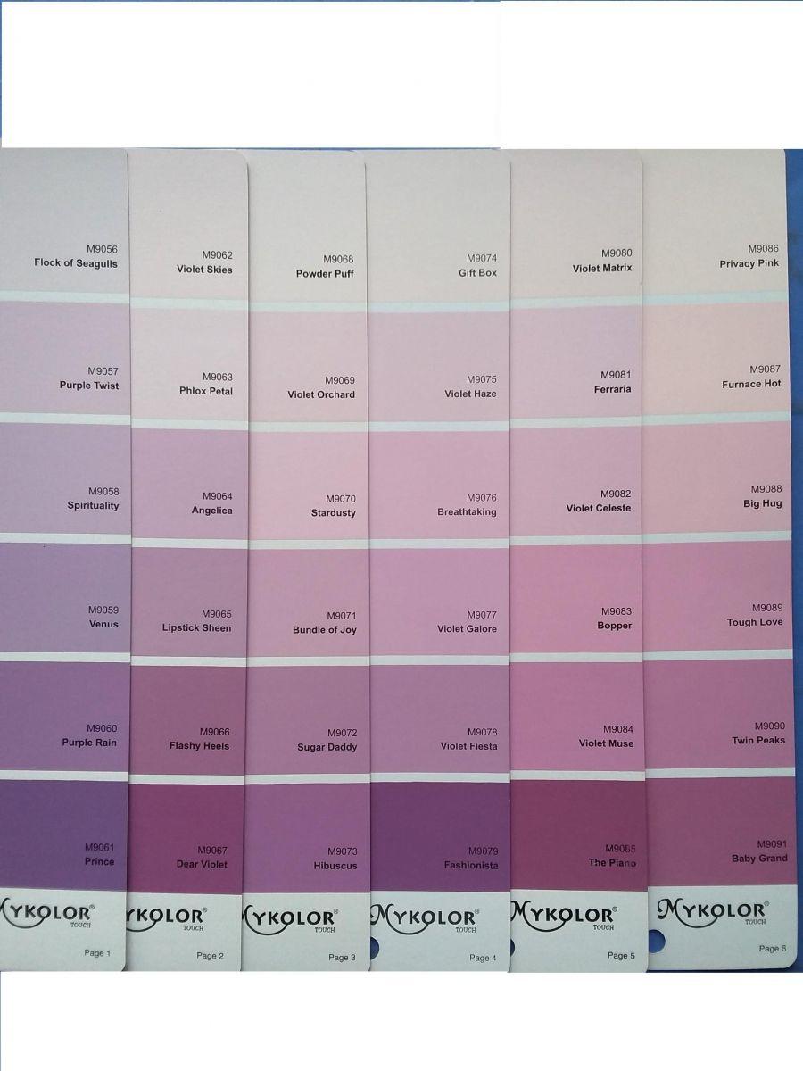 Sơn Mykolor màu tím hồng