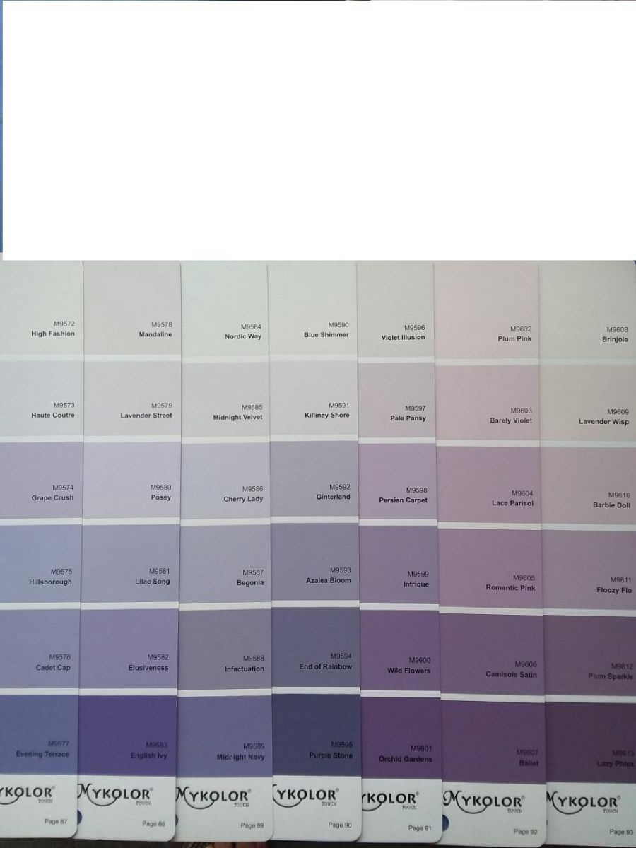 gam màu tím của sơn mykolor