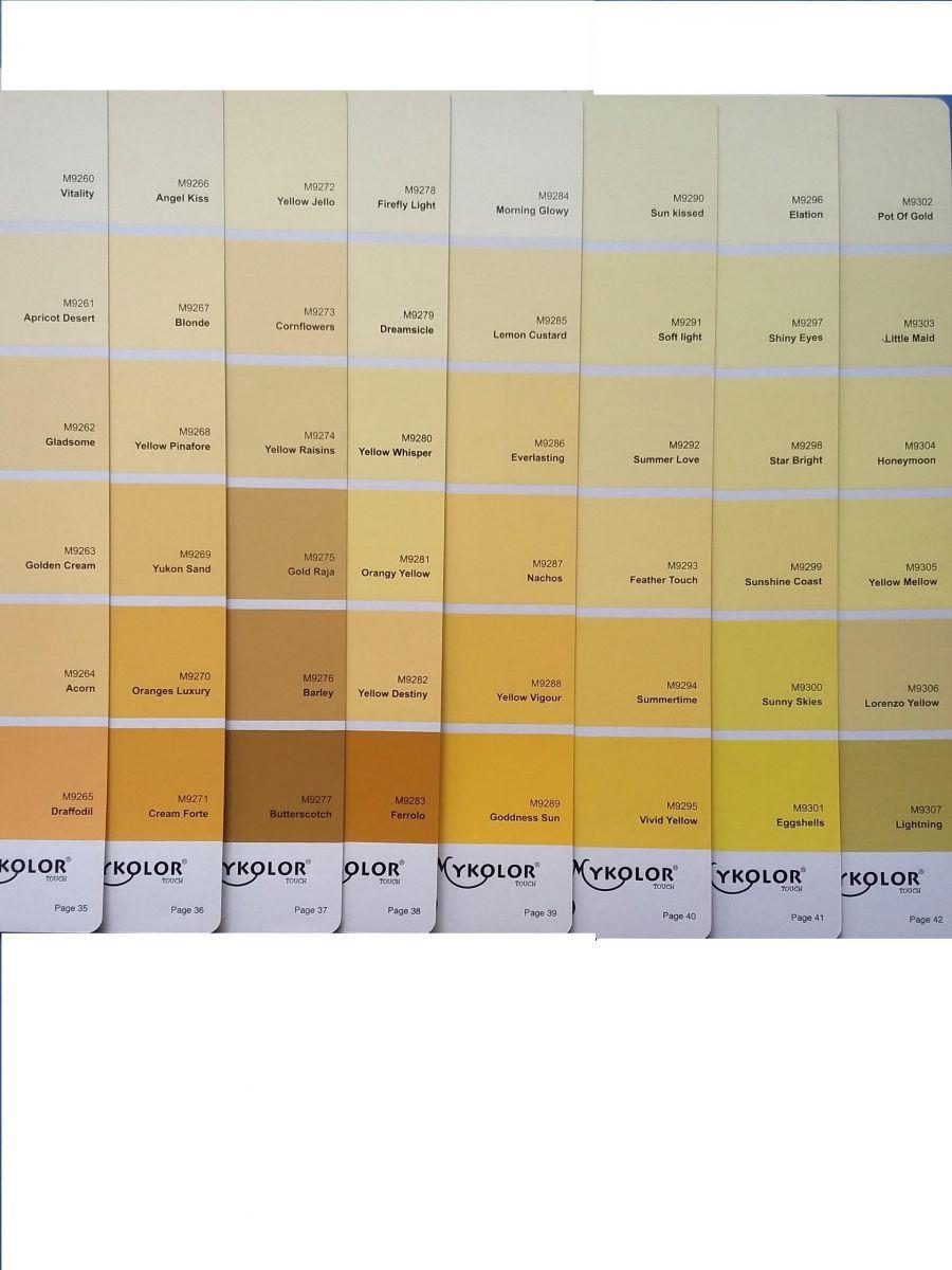 Sơn Mykolor màu vàng chanh