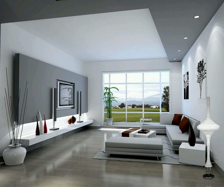 phòng khách sơn màu trắng xám