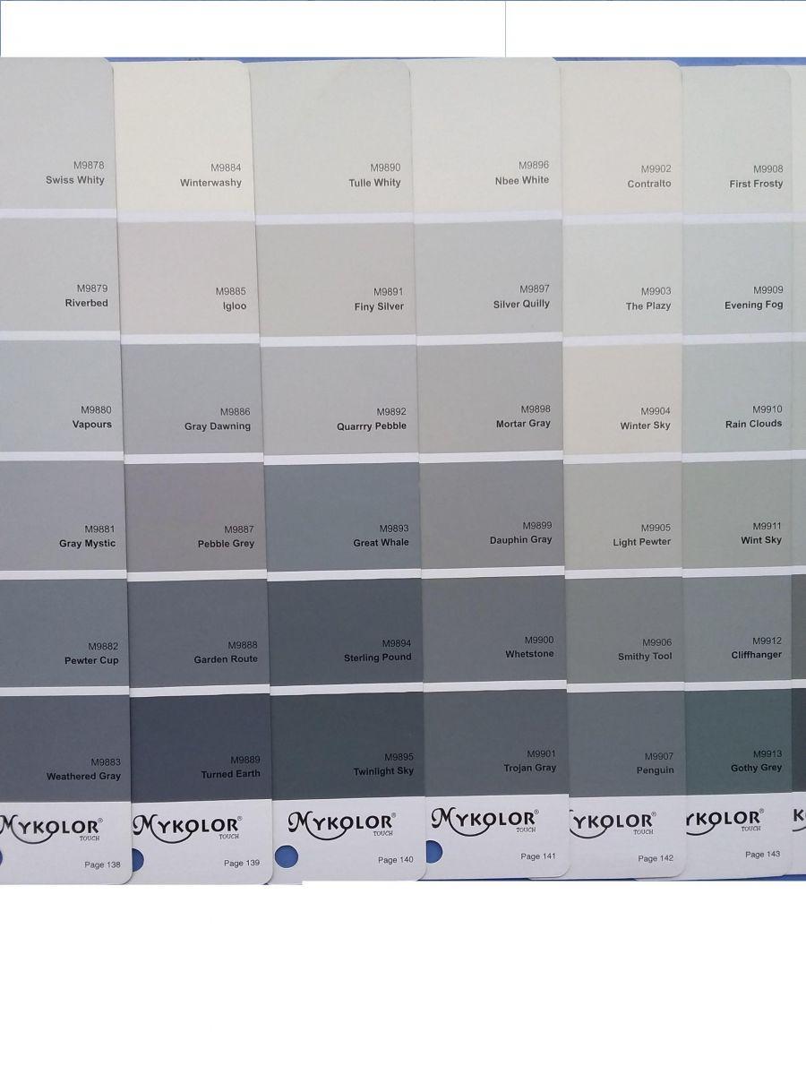 sơn mykolor màu xanh xám