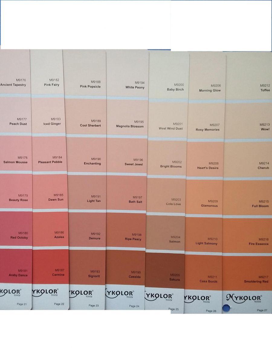 sơn Mykolor màu cam hồng