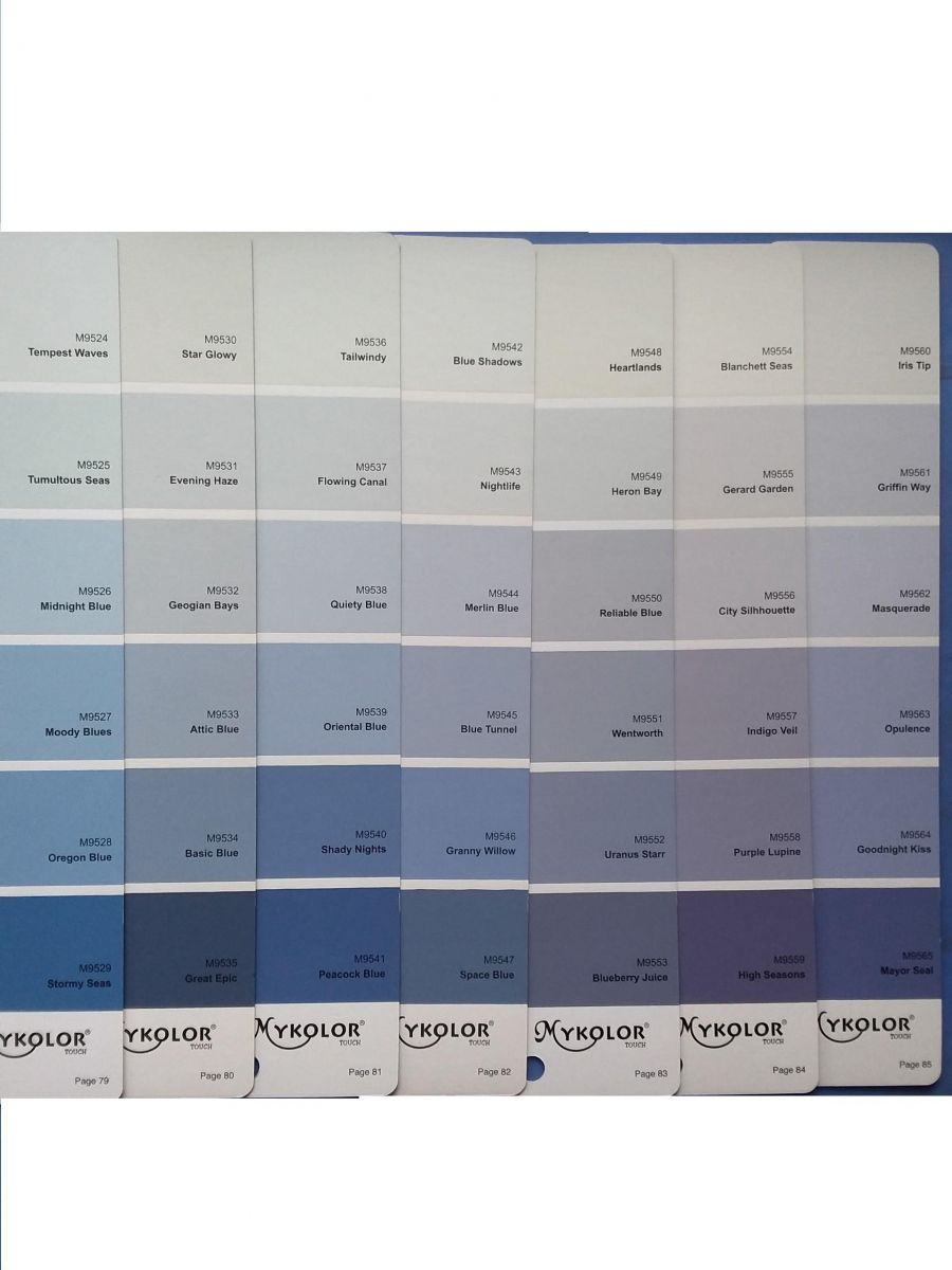 bảng màu sơn mykolor xanh tím